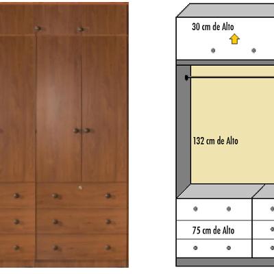 Cotizaci n closet a medida dormitorio foto del dise o for Disenos de zapateras para closet