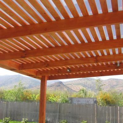 Construcci n de cobertizo en madera la florida regi n for Cobertizos economicos