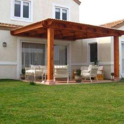 Cobertizo y terraza de madera pe aflor regi n - Terrazas de madera precios ...