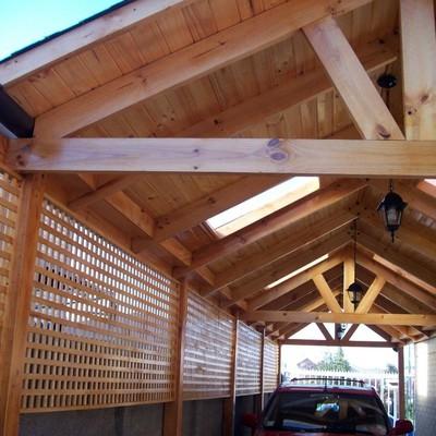 Construcci n cobertizo en madera pudahuel regi n for Cobertizos de casas