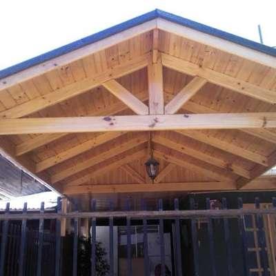 Construir cobertizo para auto pudahuel regi n for Cobertizo de madera tratada