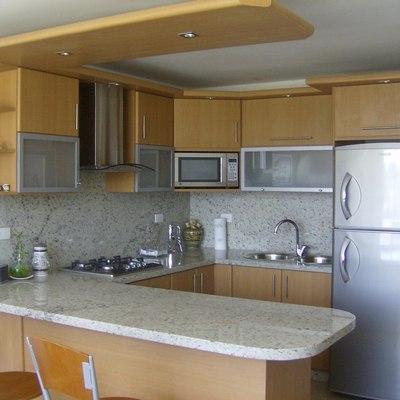Muebles de cocina para empotrar lavaplatos y cocina encimera en l ...