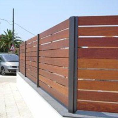 Cerca perimetral 100 metros lineales de madera con - Vallas para terrenos ...