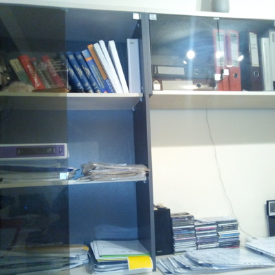 Reemplazar puertas de vidrio en estantería por puertas con marco de ...