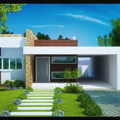 Construir una casa moderna para parcela de app 100 metros for Casa moderna 50 metros cuadrados