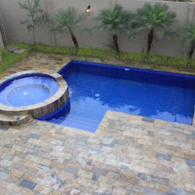 Construcci n de piscina 6x3 mts y 2 5 mts de profundidad for Construccion de piscinas en santiago