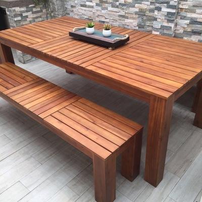 Mesa terraza madera a medida lo barnechea regi n for Mesas de terraza baratas