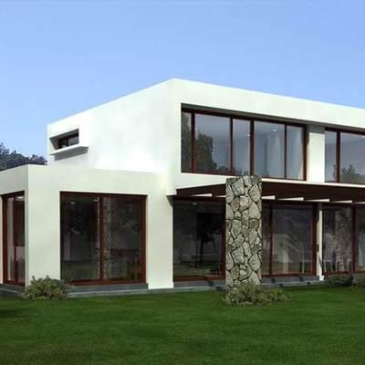 construcci n de casa estilo mediterr neo 2 pisos 160mts2