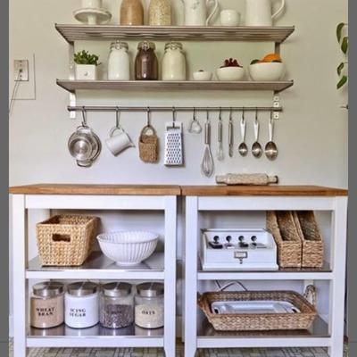 Fabricar mueble de cocina y lavaplatos con repisas en mueble y colgantes -  San Bernardo (Región Metropolitana - Maipo) | Habitissimo