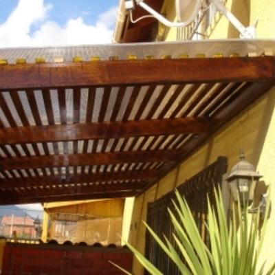 Techo policarbonato y madera san bernardo regi n - Fotos techos de madera ...