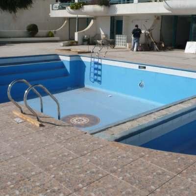 arreglar grietas piscina de concreto pintada instalar