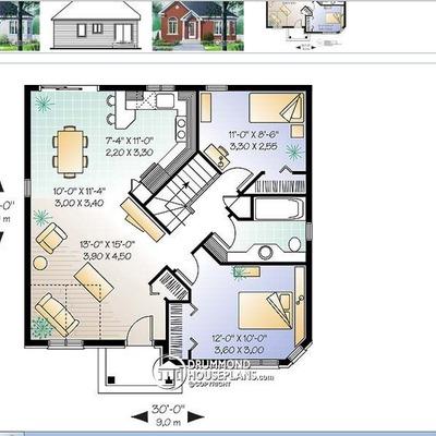 Construir casa con idea de planos aprox 80 metros - Cuanto me costaria construir una casa ...
