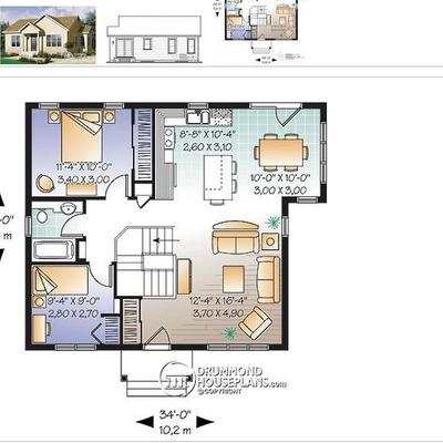Construir casa con idea de planos aprox 80 metros for Presupuesto pintar piso 80 metros