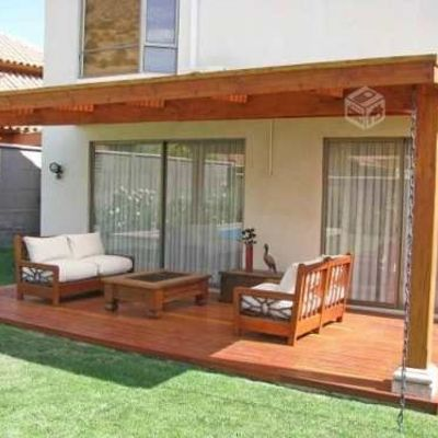 Terraza de madera con radier la cisterna regi n - Terrazas de madera precios ...