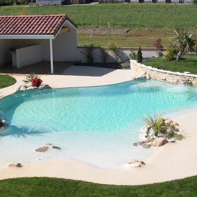 Construir una piscina de arena en un terreno 12 metros de for Piscina de arena construccion