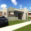 Construcción casa estilo moderno