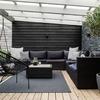 Decoración terraza depto (12 m2 app)