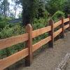 Construcción de cerco de madera
