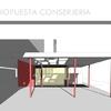Construcción conserjería en condominio, adosado a elementos pre-existentes