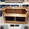 Construcción bar madera