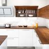 Muebles de cocina cubierta madera