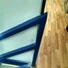 Modificación marco metalico y pilar de escala