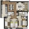 Cambio de papel tapiz depto y evaluación cambio de piso flotante y guardapolvos