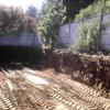 Muro contencion en duna la excavación del corte de terreno esta realizada