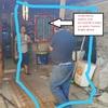 Instalación de cañerias y alcantarillado para traslado de baño
